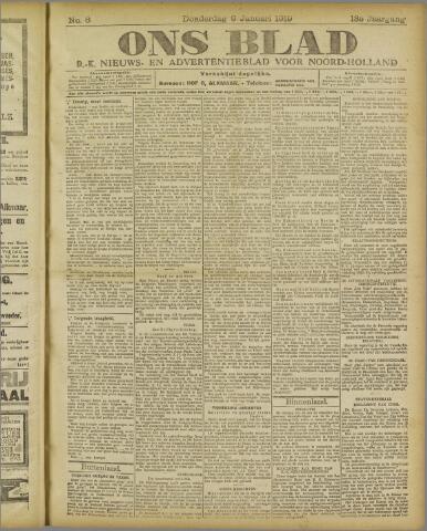 Ons Blad : katholiek nieuwsblad voor N-H 1919-01-09