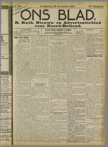 Ons Blad : katholiek nieuwsblad voor N-H 1912-11-28
