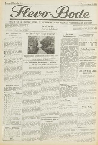 Flevo-bode: nieuwsblad voor Wieringen-Wieringermeer 1949-11-12