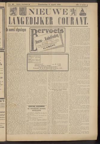 Nieuwe Langedijker Courant 1924-04-17