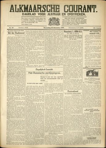 Alkmaarsche Courant 1933-11-29