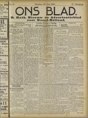 Ons Blad : katholiek nieuwsblad voor N-H 1910-06-28