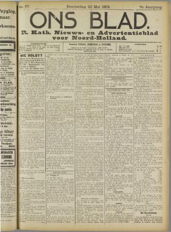 Ons Blad : katholiek nieuwsblad voor N-H 1913-05-22