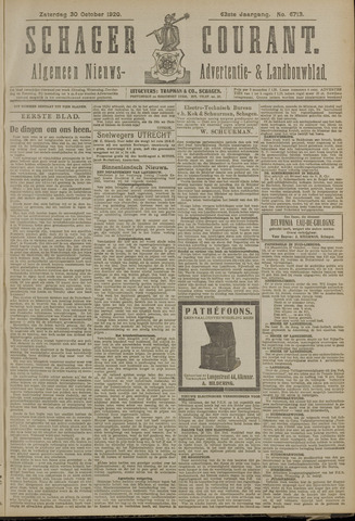Schager Courant 1920-10-30