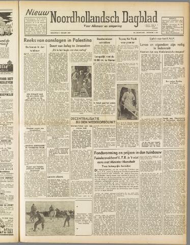 Nieuw Noordhollandsch Dagblad : voor Alkmaar en omgeving 1947-03-03