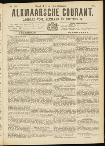 Alkmaarsche Courant 1905-09-28