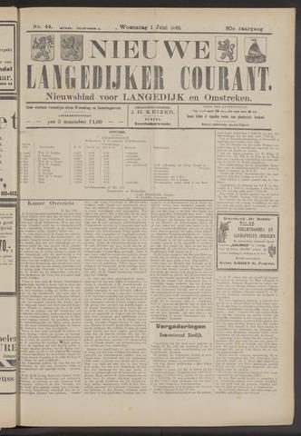 Nieuwe Langedijker Courant 1921-06-01