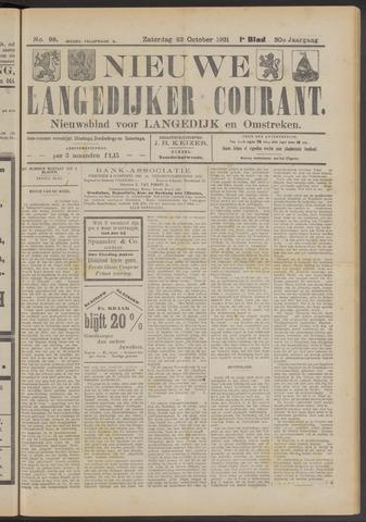 Nieuwe Langedijker Courant 1921-10-22