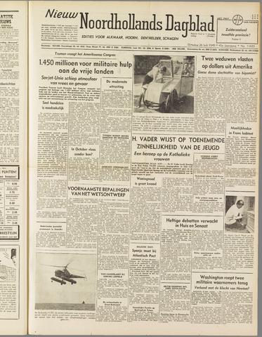 Nieuw Noordhollandsch Dagblad : voor Alkmaar en omgeving 1949-07-26