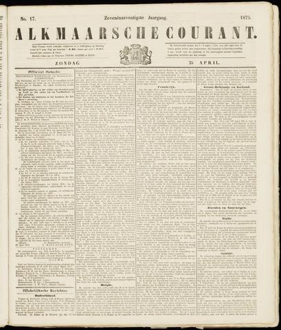 Alkmaarsche Courant 1875-04-25