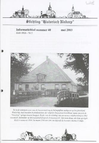Informatieblad stichting Historisch Niedorp 2003