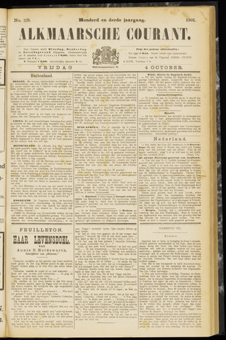 Alkmaarsche Courant 1901-10-04