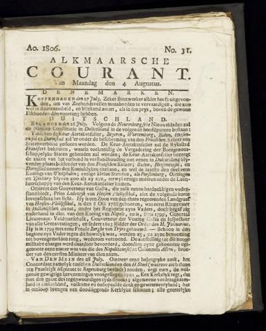 Alkmaarsche Courant 1806-08-04