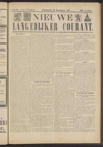 Nieuwe Langedijker Courant 1923-09-20