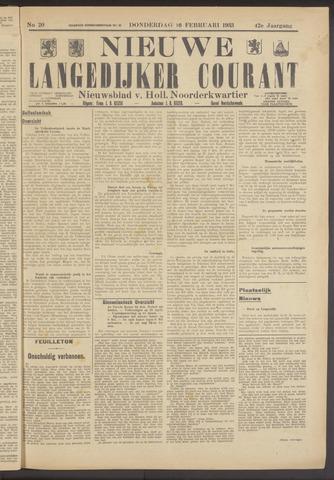 Nieuwe Langedijker Courant 1933-02-16
