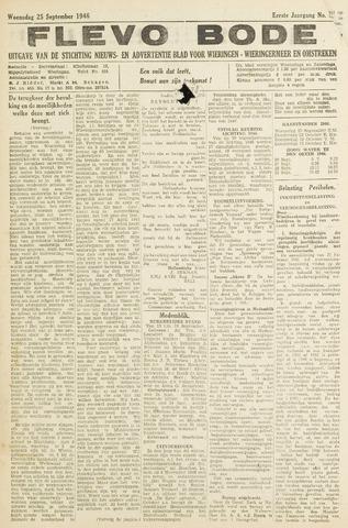 Flevo-bode: nieuwsblad voor Wieringen-Wieringermeer 1946-09-25