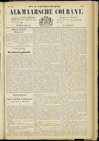Alkmaarsche Courant 1891-04-01