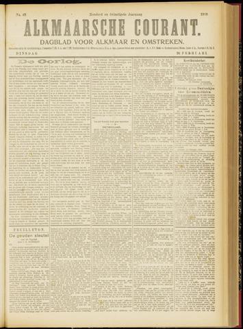 Alkmaarsche Courant 1918-02-26
