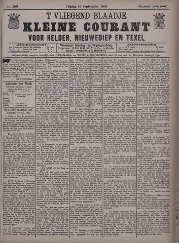 Vliegend blaadje : nieuws- en advertentiebode voor Den Helder 1881-09-30