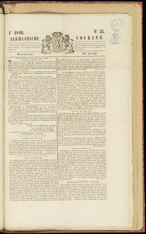 Alkmaarsche Courant 1846-06-22