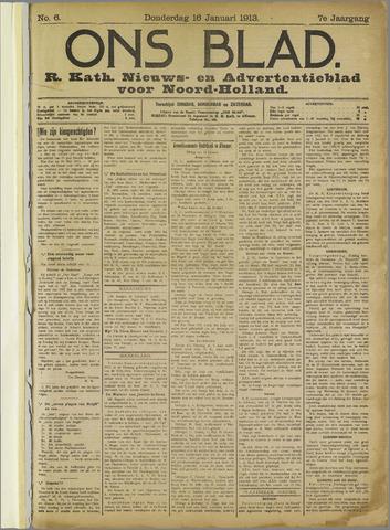 Ons Blad : katholiek nieuwsblad voor N-H 1913-01-16