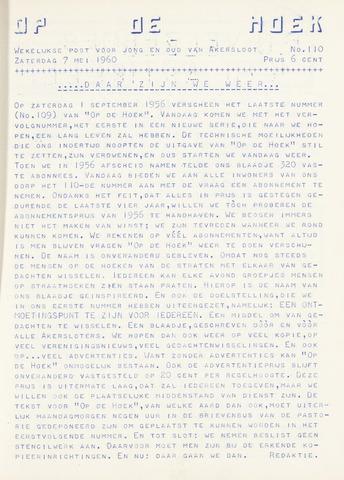 Op De Hoek, weekblad voor Akersloot 1960-05-07