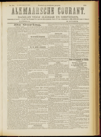 Alkmaarsche Courant 1915-10-30