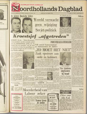 Noordhollands Dagblad : dagblad voor Alkmaar en omgeving 1964-10-16