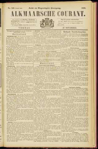 Alkmaarsche Courant 1896-11-27