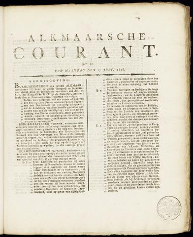 Alkmaarsche Courant 1816-07-15