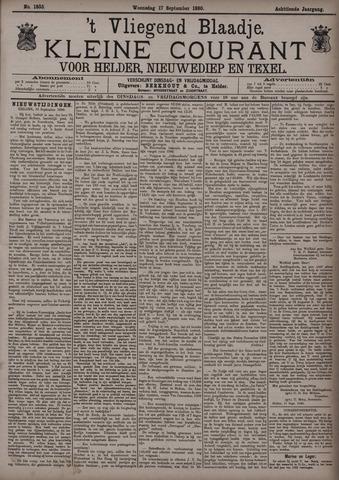 Vliegend blaadje : nieuws- en advertentiebode voor Den Helder 1890-09-17