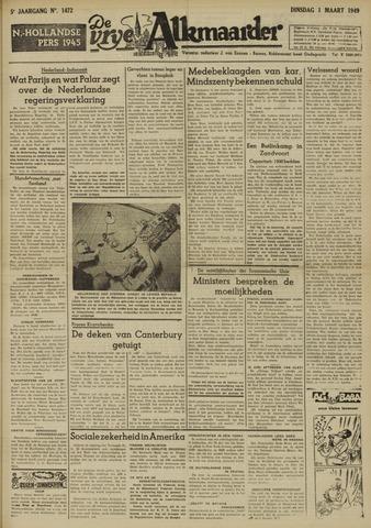 De Vrije Alkmaarder 1949-03-01
