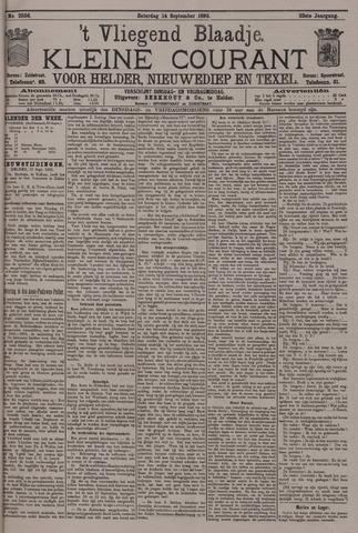 Vliegend blaadje : nieuws- en advertentiebode voor Den Helder 1895-09-14