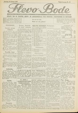 Flevo-bode: nieuwsblad voor Wieringen-Wieringermeer 1949-02-26