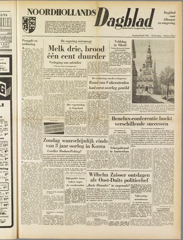 Noordhollands Dagblad : dagblad voor Alkmaar en omgeving 1953-07-25