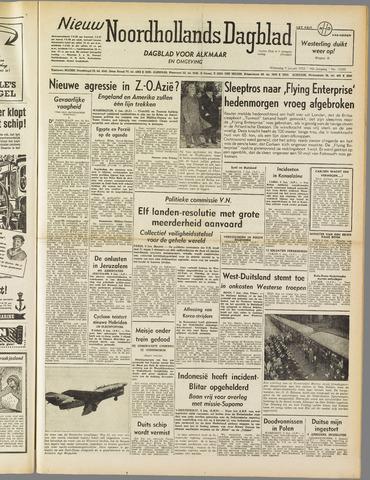 Nieuw Noordhollandsch Dagblad : voor Alkmaar en omgeving 1952-01-09