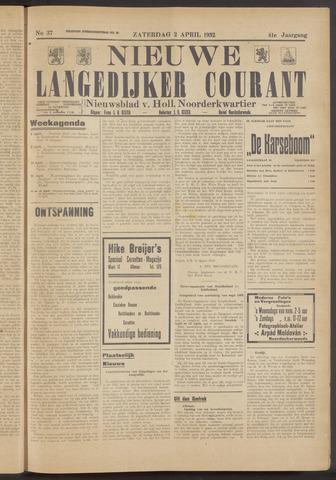 Nieuwe Langedijker Courant 1932-04-02