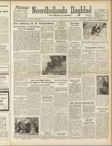 Nieuw Noordhollandsch Dagblad : voor Alkmaar en omgeving 1947-08-23