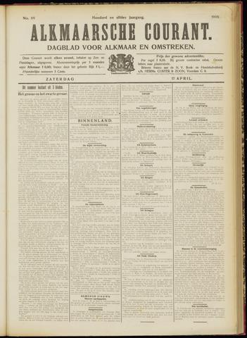 Alkmaarsche Courant 1909-04-17