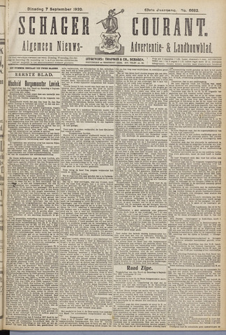 Schager Courant 1920-09-07