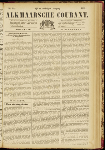Alkmaarsche Courant 1883-09-26