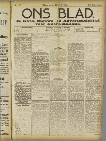 Ons Blad : katholiek nieuwsblad voor N-H 1911-07-19