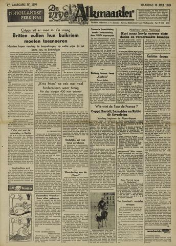 De Vrije Alkmaarder 1949-07-18