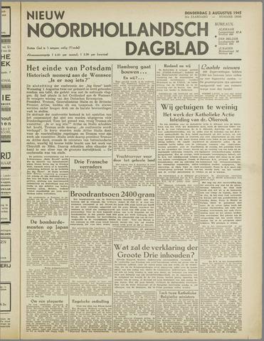 Nieuw Noordhollandsch Dagblad : voor Alkmaar en omgeving 1945-08-02