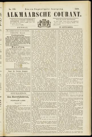 Alkmaarsche Courant 1889-09-29