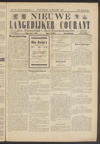 Nieuwe Langedijker Courant 1933-03-11