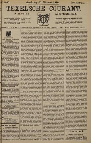 Texelsche Courant 1916-02-10