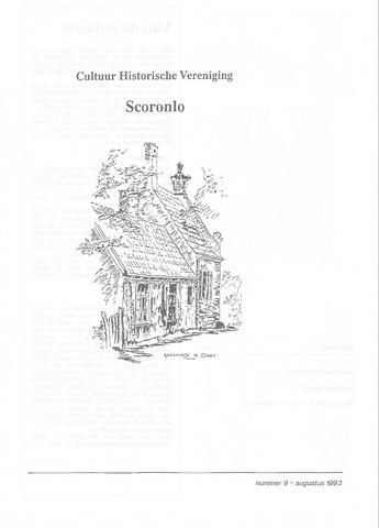 Tijdschrift van cultuurhistorische vereniging Scoronlo 1993-08-01