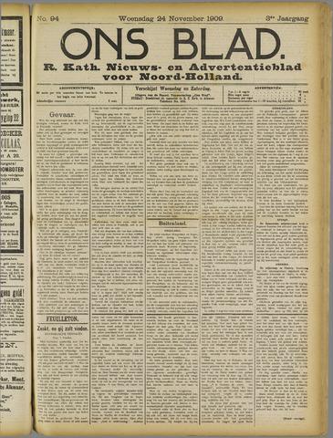 Ons Blad : katholiek nieuwsblad voor N-H 1909-11-24