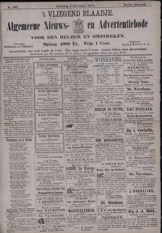 Vliegend blaadje : nieuws- en advertentiebode voor Den Helder 1875-12-04